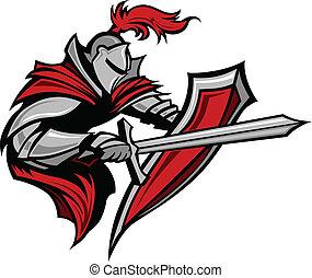 La mascota de la mascota de Knight