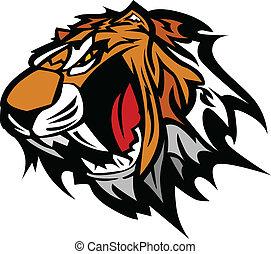 La mascota de la mascota del tigre
