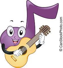 La mascota de la nota musical
