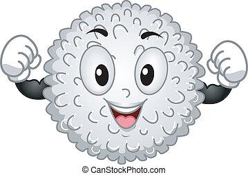 La mascota de las células blancas