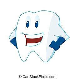 La mascota de los dientes sonrientes