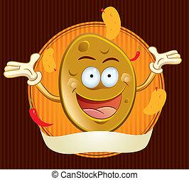 La mascota de papas fritas