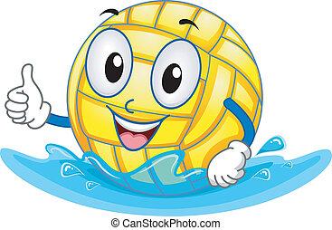 La mascota del baile de waterpolo