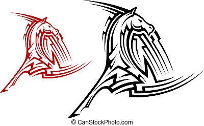 La mascota del caballo tribal