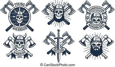 La mascota del guerrero vikingo
