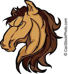 La mascota gráfica Mustang
