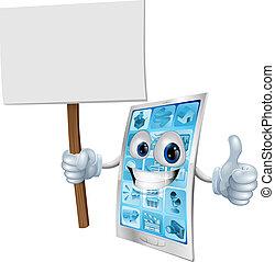 La mascota móvil tiene señal