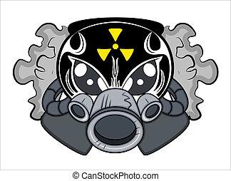La mascota tóxica vector de tatuajes