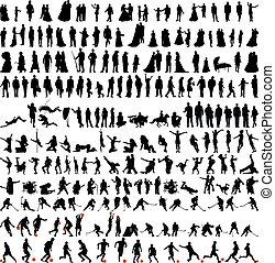 La mayor colección de personas siluetas