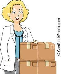La medicina para las cajas de médicos