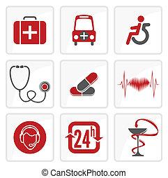 La medicina y los iconos de la atención médica