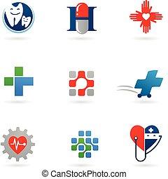 La medicina y los iconos sanitarios