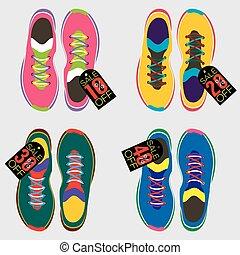 La mejor vista de la ilustración del vector de los zapatos