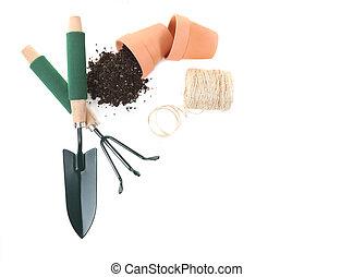 La mejor vista de las herramientas de jardinería primaveral