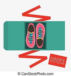 La mejor vista de los zapatos de correr ilustración de vector de vector de regalo