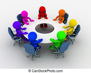 La mesa de conferencias