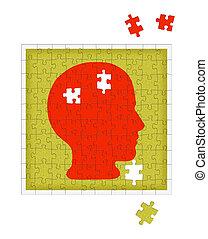 La metáfora de la psicología: desorden mental, psiquiatría, etc