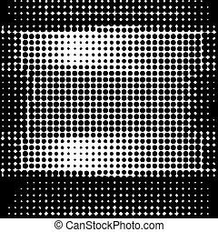 La mitad del patrón... puntos sobre fondo blanco.