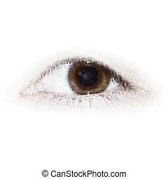 La mitad humana hace la vista. EPS 8