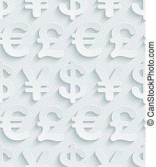 La moneda gris claro simboliza papel tapiz.