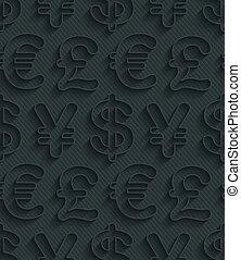 La moneda gris oscura simboliza papel tapiz.