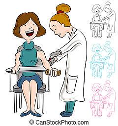 La mujer de la prueba de sangre