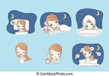 La mujer del cartón tiene insomnio