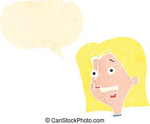 La mujer feliz de los dibujos animados