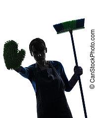 La mujer que limpia casas deja de limpiar