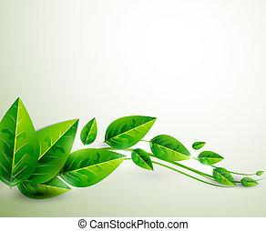 La naturaleza de las hojas verdes deja un fondo abstracto