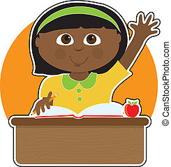 La niña de la escuela negra