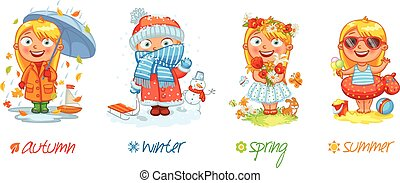 La niña y las cuatro temporadas