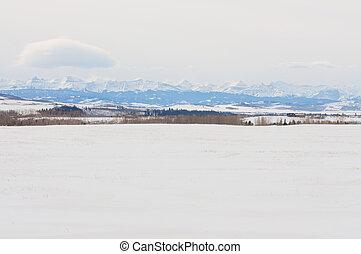 La nieve cubría Praire y Footils
