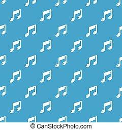 La nota musical vector azul sin costura