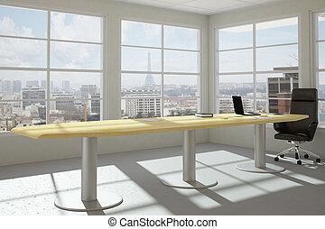 La oficina urbana moderna