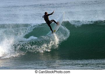 la ola está más fuerte