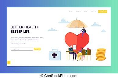 La póliza de seguro de salud de familia firma la página de aterrizaje