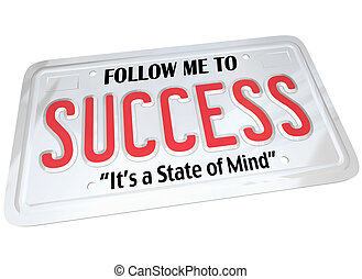 La palabra exitosa en la matrícula sigue al futuro exitoso