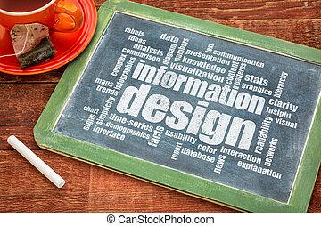 La palabra nube de diseño de información