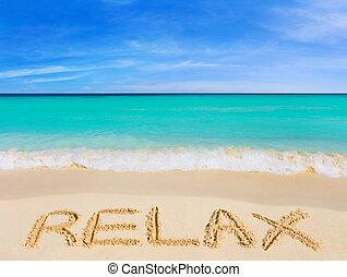 La palabra se relaja en la playa