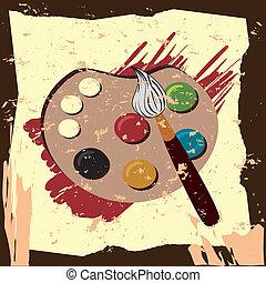 La paleta de pintura