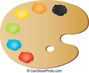 La paleta del pintor