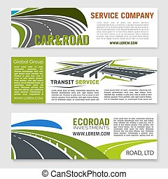 La pancarta de servicio de transporte y carretera