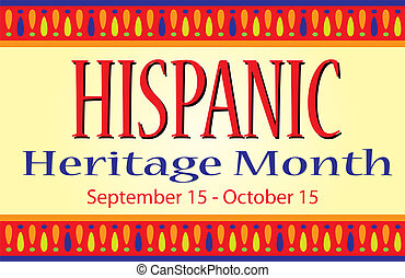 La pancarta del mes de herencia hispana