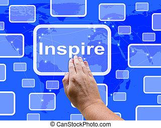 La pantalla táctil inspira motivación y estímulo