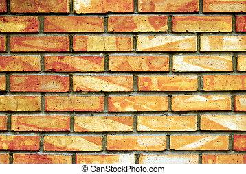 La pared de ladrillos
