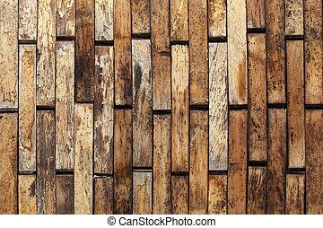 La pared de madera