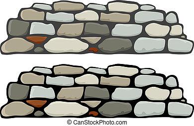 La pared de piedra I