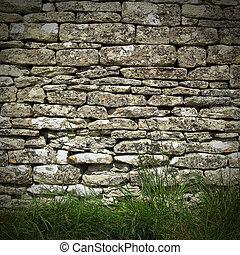 La pared de piedra seca