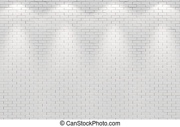 La pared del cuarto de Vlank iluminada por cuatro luces